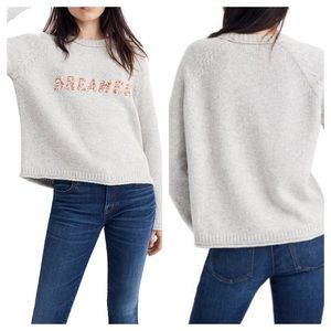 Madewell Dreamer Embroidered Keaton Sweater